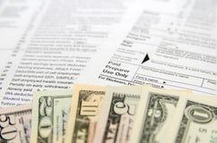 Individual Tax Form Royalty Free Stock Photo