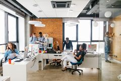 Individual and team group in the office. royalty free stock photo