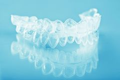 Individual teeth tray for whitening Royalty Free Stock Photo