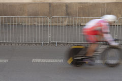 Individual Time Trial Cyclist on a Street Stock Photos