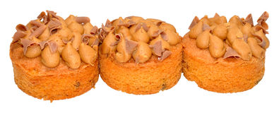 Individual Toffee Sponge Cakes Stock Photo