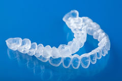 Individual tooth tray for whitening Royalty Free Stock Images