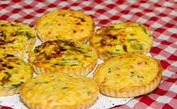 Individual vegetable cakes. For sale at the fair stock images