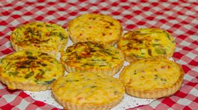 Individual vegetable cakes. For sale at the fair royalty free stock photos