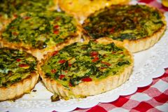 Individual vegetable cakes. For sale at the fair stock photos