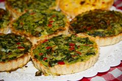 Individual vegetable cakes. For sale at the fair stock image