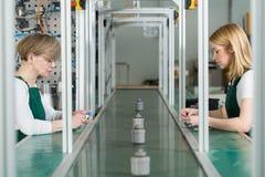 Individual work at factory Royalty Free Stock Photography
