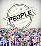 Individualidad humana Person Concept de la humanidad de la gente Foto de archivo libre de regalías