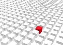 Individualidad que se coloca hacia fuera de la muchedumbre ilustración del vector