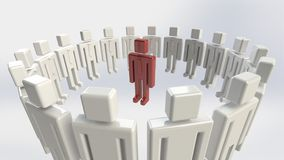 Individualidade do negócio imagens de stock