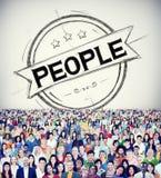 Individualidade humana Person Concept da humanidade dos povos Foto de Stock Royalty Free