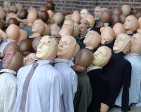 Individualidade. Uma face na multidão. foto de stock royalty free