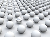 individualismo ed unicità di concetto 3D Fotografia Stock Libera da Diritti