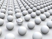 Individualismus und Einzigartigkeit des Konzeptes 3D lizenzfreie abbildung