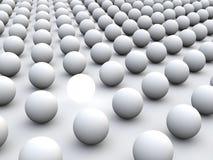 Individualismus und Einzigartigkeit des Konzeptes 3D stock abbildung