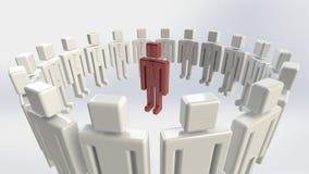 Individualità di affari Immagini Stock