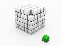 individualité verte une de cube Photographie stock libre de droits