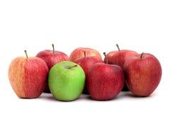 Individualité dans les pommes Photographie stock libre de droits