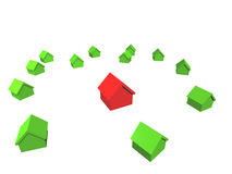 Individuality. 3D city (SEE MORE IN MY PORTFOLIO Stock Photo