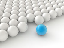 Individuality balls. 3d render illustration Royalty Free Stock Image