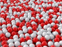 Individuality balls 3d. Render illustration Stock Image