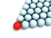 Individuality concept. balls arrow Stock Images