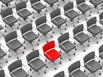 Individuality concept - chairs Stock Photos