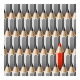 Individuality concept pencils Royalty Free Stock Photos