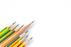 Individuality concept. Pencils  on white Royalty Free Stock Photo