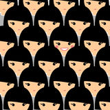 Individuality concept. Teenager is standing out from the crowd. Royalty Free Stock Images