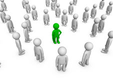 Individuality in a crowd Royalty Free Stock Images