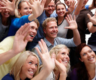 Individuality - Group of modern people Celebrating Royalty Free Stock Images