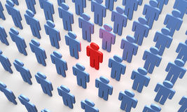 Individuality (symbolic figures of people) Royalty Free Stock Images