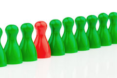 Individuality in a team. be different. Stock Photos