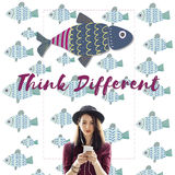 Individuality Unique Different Fish Graphic Concept Stock Photo