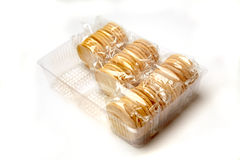 Individually packed biscuits Royalty Free Stock Images