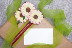 Gift with a card Stock Photo