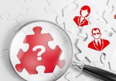 Individuazione del personale qualificato immagine stock