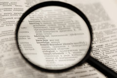 Individuazione della conoscenza Immagini Stock Libere da Diritti