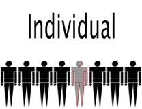 Individuel Photo stock