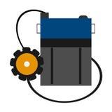 Individuele mijnlamp Vector illustratie Stock Foto's