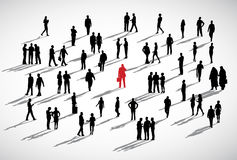 Individuellt affärsmanStanding Crowd Business begrepp Arkivfoton