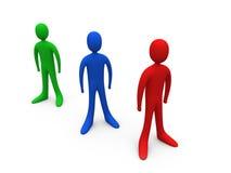 Individui di Toon Fotografie Stock