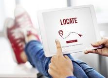 Individui il concetto di posizione della destinazione della direzione di posizione Fotografie Stock Libere da Diritti