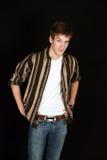 Individuo adolescente en camisa rayada Imagen de archivo