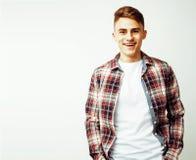 Individuo adolescente hermoso joven del inconformista que presenta smili emocional, feliz Imagenes de archivo