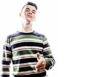 Individuo adolescente hermoso joven del inconformista que presenta smili emocional, feliz Fotografía de archivo