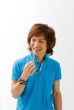 Individuo asiático feliz Fotos de archivo