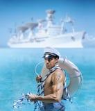 Individuo atractivo del marinero Imagen de archivo libre de regalías