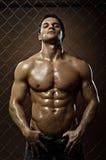 Individuo atractivo muscular Imagen de archivo libre de regalías